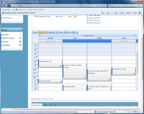Syncfusion Essential Schedule for ASP