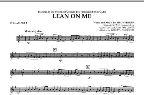 Lean On Me - Bb Clarinet 1 by Bill Withers, Robert