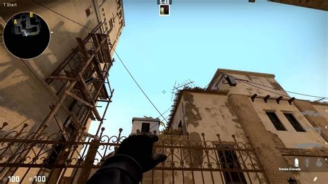 CS:GO - Mirage: How to smoke mid window from T spawn - YouTube