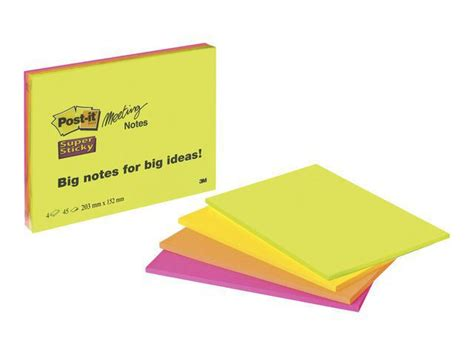 POST-IT Notes POST-IT SS Meeting Note 200x149mm   Offink
