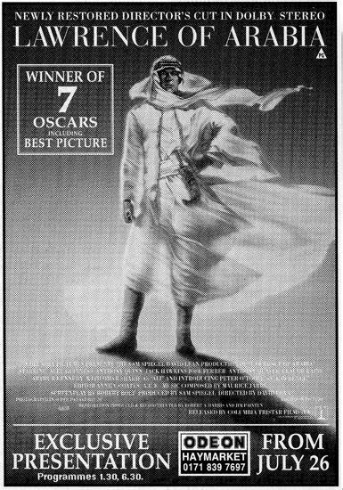 """""""Lawrence of Arabia: The Director's Cut"""" — The 70mm"""