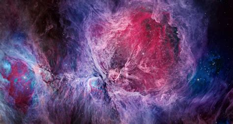 APOD: 2016 May 17 - The Orion Nebula in Visible and Infrared