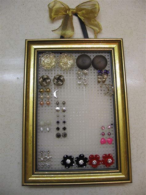 Stud Earring Organizer · How To Make A Jewelry Frame · No