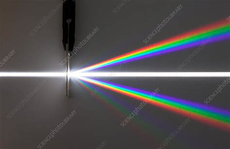 Light Dispersed by Diffraction Grating - Stock Image C004