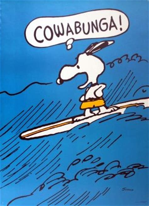 Snoopy Surfing, 1960s - original vintage poster by Charles
