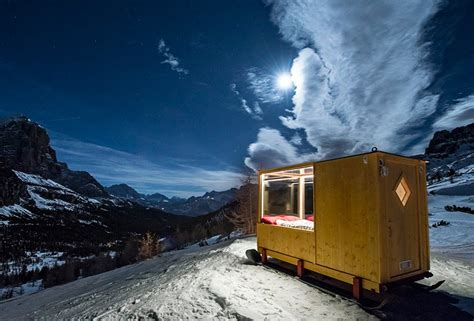 tiny starlight room in the dolomites offers dramatic views