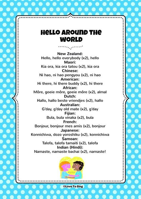 Hello Around The World | Hello song for kids, Kids songs