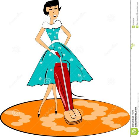 Retro Mom Cleaning Royalty Free Stock Images - Image: 22626629